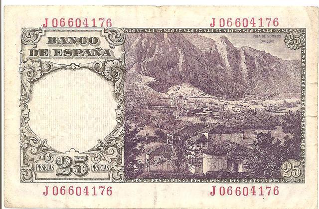 25 Pesetas 19 Febrero 1946 Image