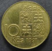 Checoslovaquia. 10 Coronas (1991) CHE_10_Coronas_CSFR_anv