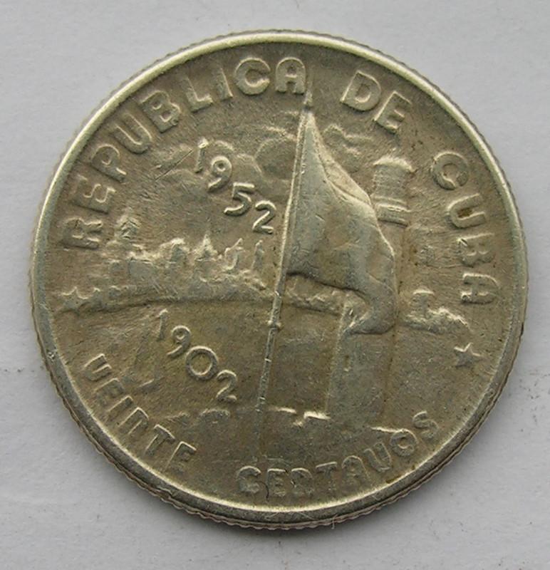 20 Centavos. Cuba. 1952 Cuba_003