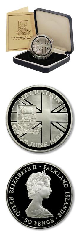 50 Pence. Falkland Islands. 1982 Falkland_Islands_1982_Crown