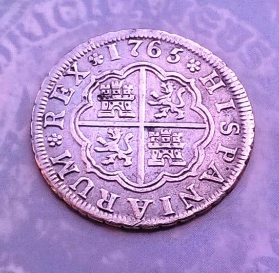 1 real 1765. Carlos III. Madrid WP_20150820_007