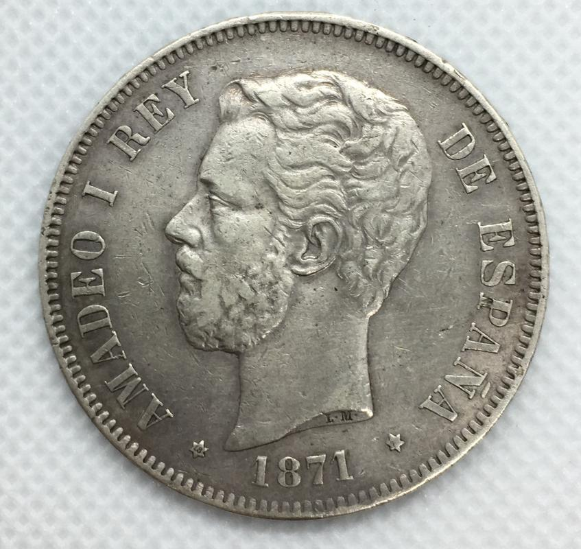 5 pesetas 1871 (*18-71). Amadeo I 47212_D5_E-_B636-4573-8_DDF-2801_C9_E737_B3
