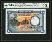5 Libras British Wet Africa, 1954 (Specimen) Image