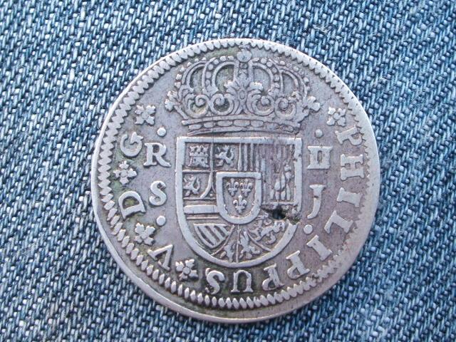2 reales Felipe V, Sevilla. 1722. Sii