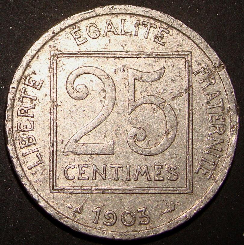 25 Céntimos de Franco. Francia (1903) FRA_25_C_ntimos_Franco_1903_rev