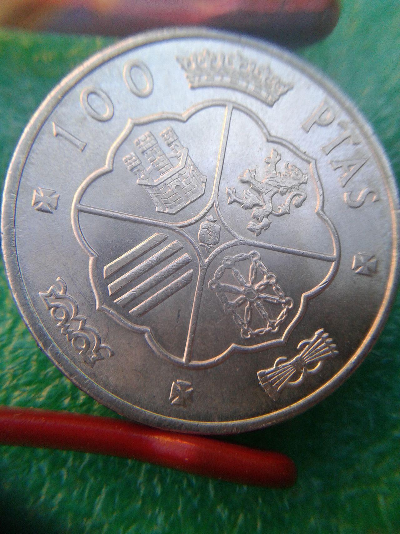 Moneda de 100 pesetas de Franco  1966*69 Reverso100