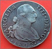 8 reales Carolus IIII  1802  Madrid .FA. 57_1