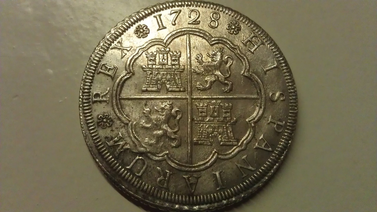 8 reales 1728. Felipe V. Sevilla. IMAG0445