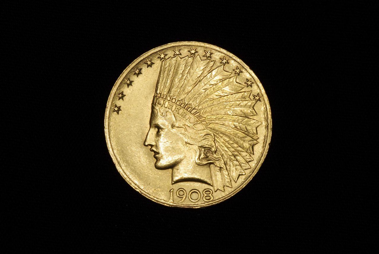 10 Dollars. EEUU. 1908. Pfiladelphia Image