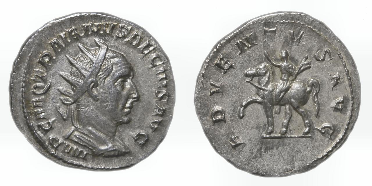 Antoniniano de Trajano Decio. ADVENTVS AVG. Trajano Decio a caballo a izq. Roma. Sin_t_tulo-1