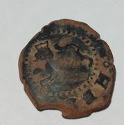 2 maravedís de Felipe II de Burgos, resellados. Image