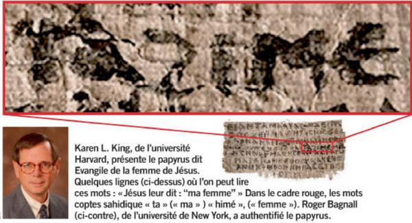 jésus a été marié a Marie-Madeleineet avait 2 enfants Image