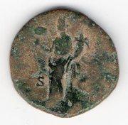 Dupondio de Marco Aurelio con Liberalitas en el reverso. Mon011r