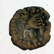 4 Cornados navarros de Felipe II resellados a IIII maravedies de 1603, Toledo. Image
