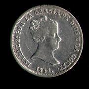 2 Reales 1.850. Isabel II. Sevilla Excepcion_norma