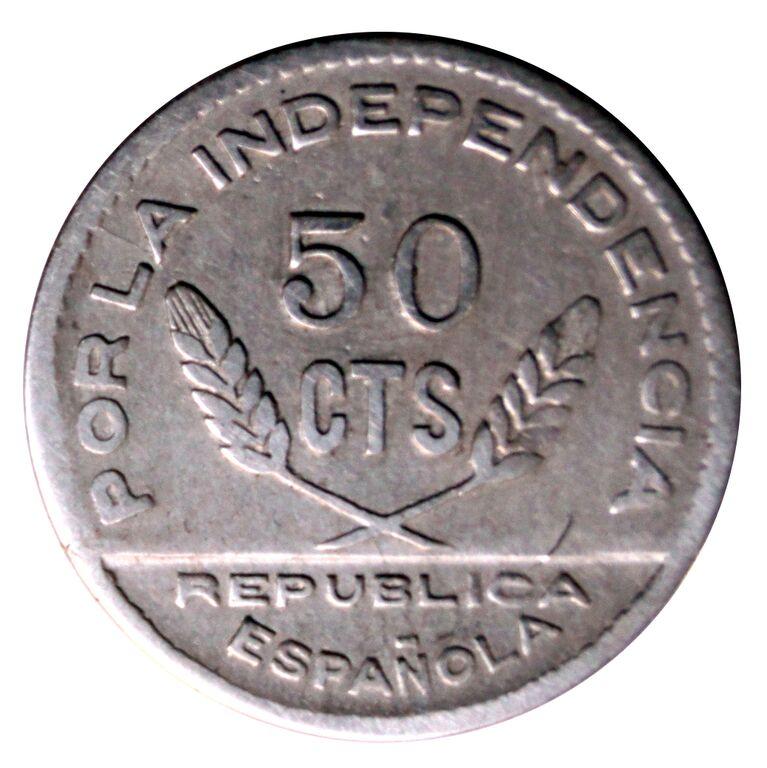 Prueba de oro de los 50 Cts. del Consejo de Santander, Palencia y  Burgos 6_B