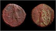 Tetradracma de cobre o Unit de Huvishka I.  3143a