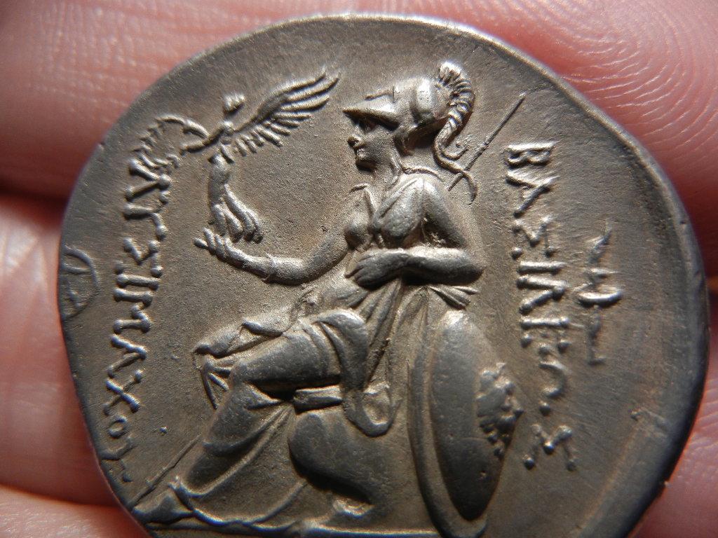 Tetradracma eubeo-ático de Lisímaco. Tracia (305-281 a.C). Increíble diseño. DSCN0077