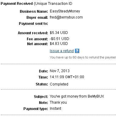 3º Pago de Bemybux ( $5,34 ) Bemybuxpayment