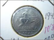 10 centimos 1945 estado español DSC04764