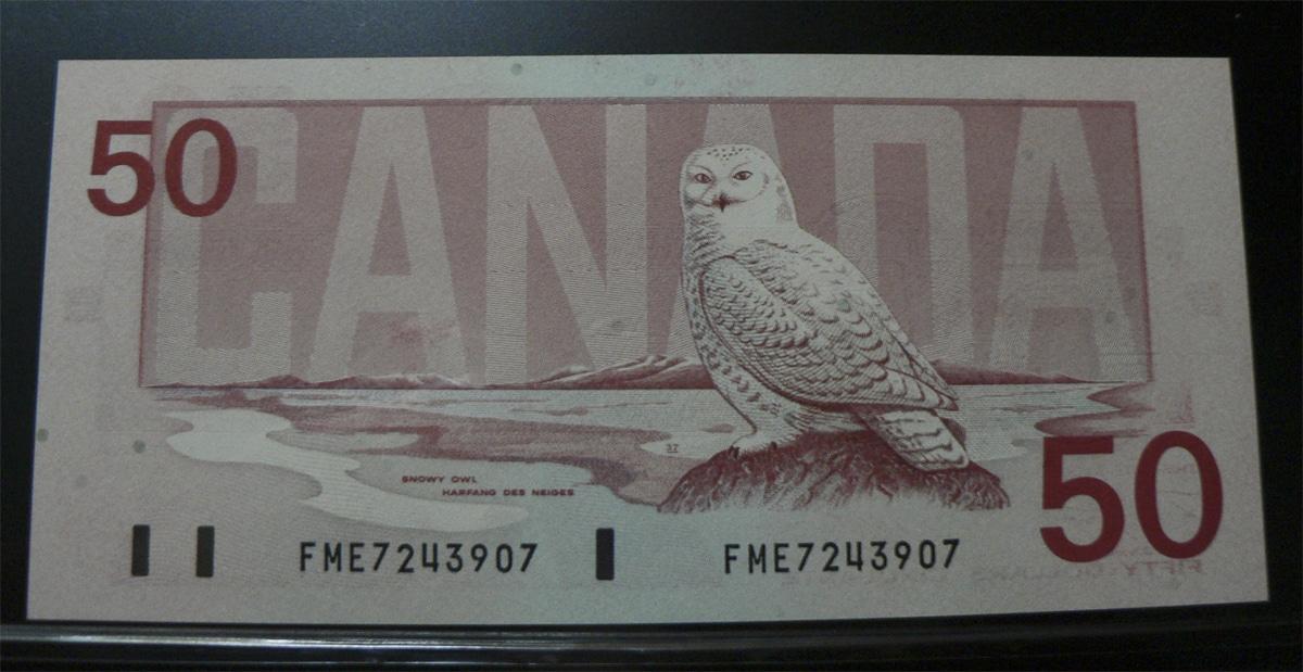 50 Dólares Canadá, 1988  Cnc98dr