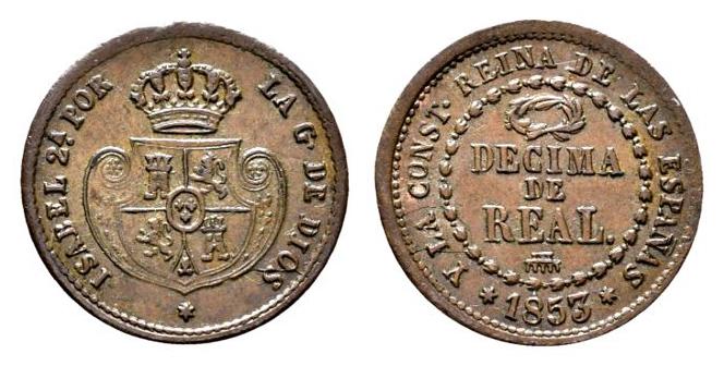 Décima de Real 1853 Isabel II. Segovia   Coleccio_n_162