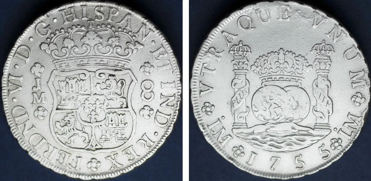 8 Reales 1755 Lima. Opiniones E_57