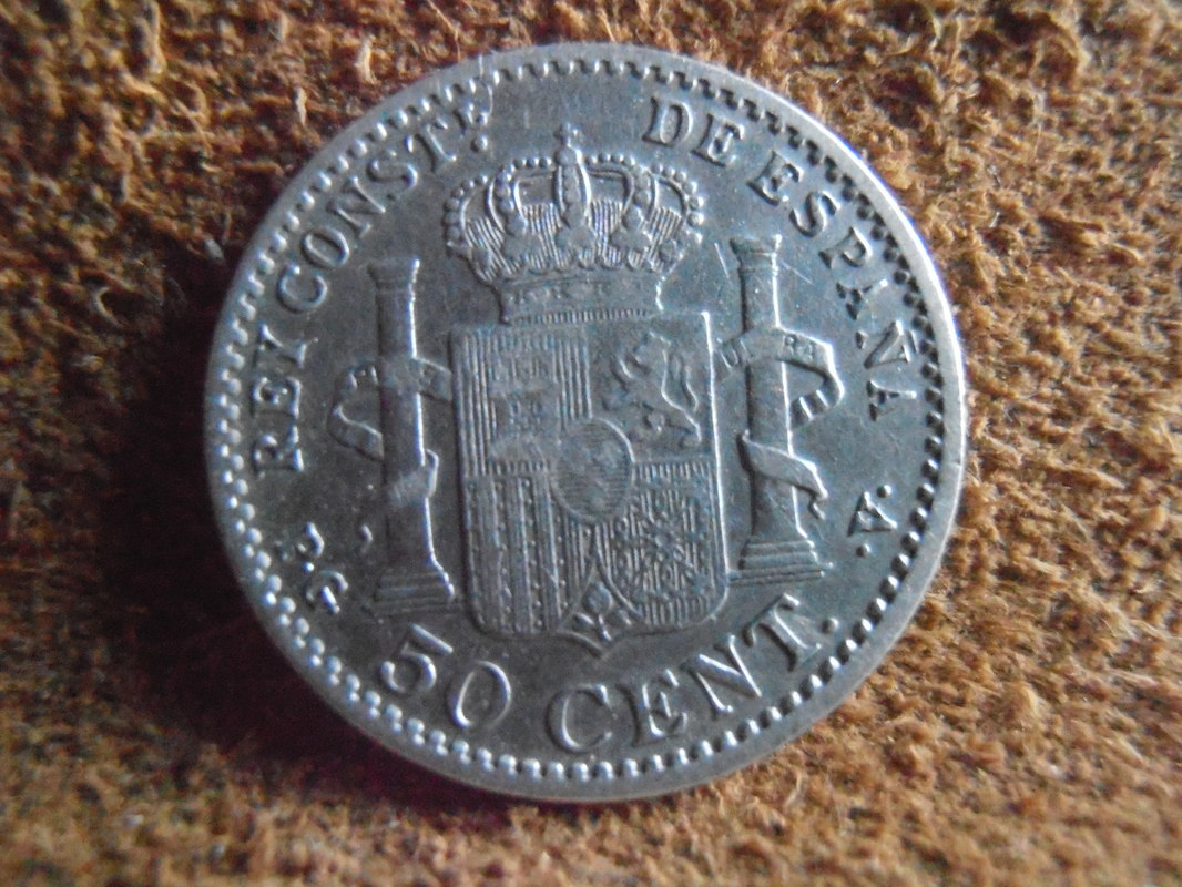 50 Céntimos 1896 (*9 *6). Alfonso XIII. PG V P3280018
