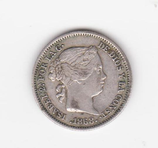 10 céntimos escudo 1868 Madrid, Isabel II 10_centimos_escudo_1868
