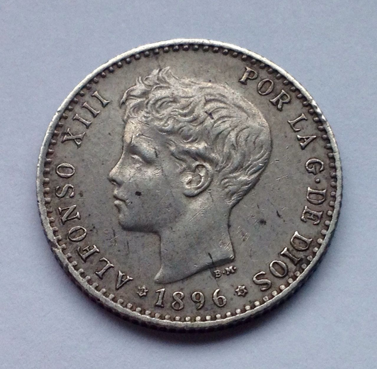 50 céntimos 1896 Alfonso XIII - Cartima dedit Image