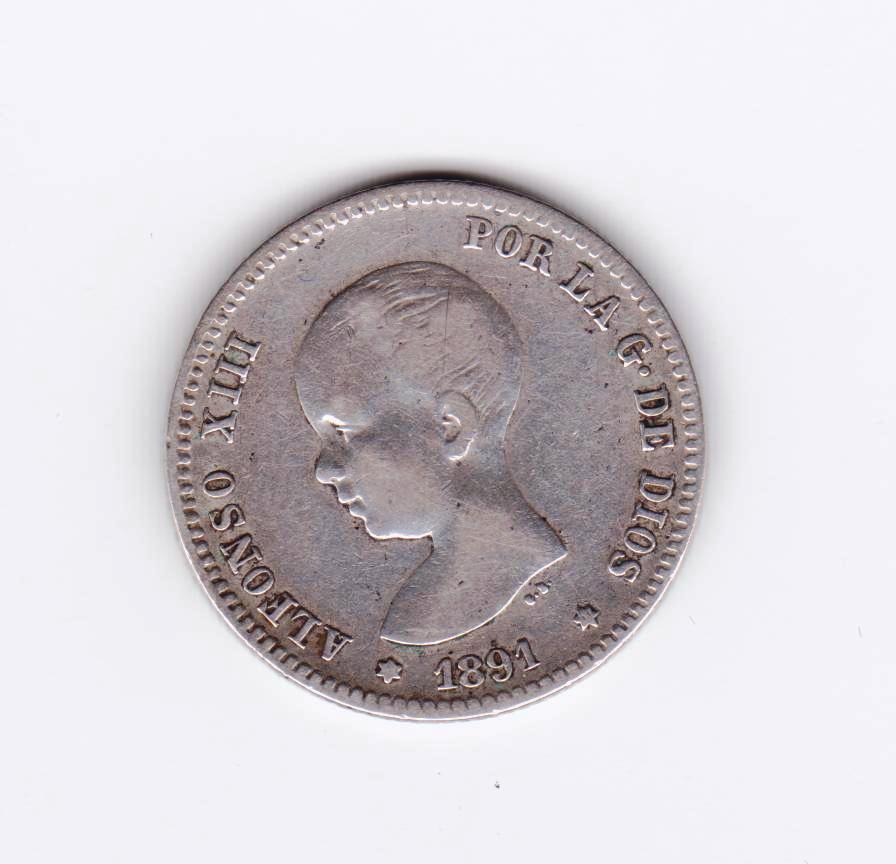 1 peseta 1891, Alfonso XIII 1_peseta_1891