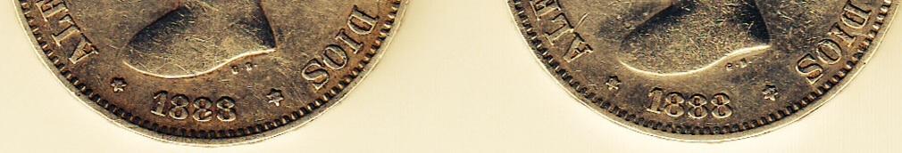 5 pesetas 1888 Alfonso XIII ¿Variante o no? Image