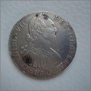 8 Reales 1809 Fernando VII Guatemala NG( busto Carolus IV ) M Image