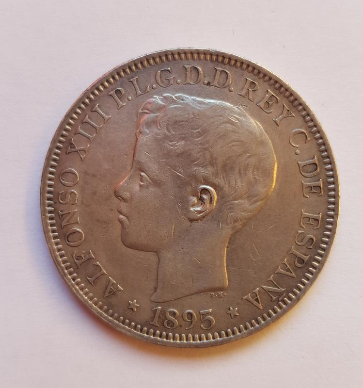 1 Peso 1895. Alfonso XIII Puerto Rico. 20171113_154424