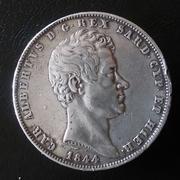 5 liras Carlo Alberto 1844 rey de Cerdeña 20180330_111626-1