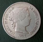 20 reales 1857. Isabel II. Madrid 20180429_112615-1