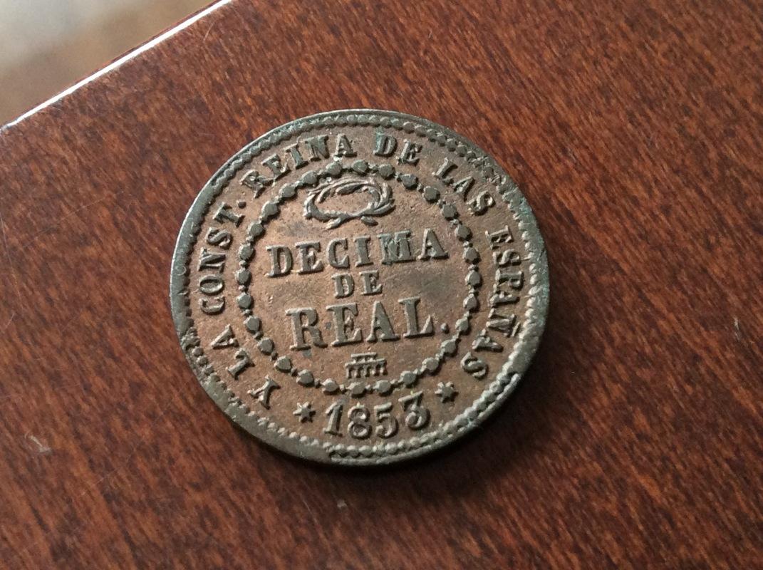 1 Décima Real 1853. Isabel II. Segovia  IMG_3126