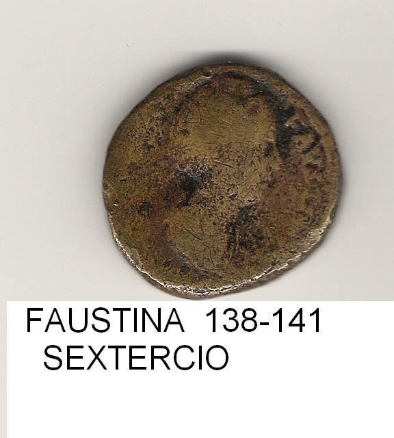 1 sestercio Fausta año 138 - 141 IMPERIO_ROMANO_22
