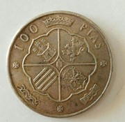 100 pesetas 1966 (*19-??). Estado Español. Reverso