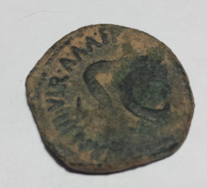 As de Augusto. SEX NONIVS QVINCTILIAN IIIVIR A A A F F alrededor de S C. Roma. Image