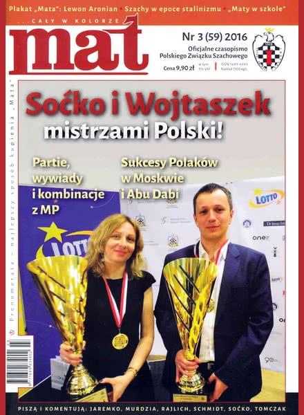 CHESS PERIODICALS :: Czasopismo MAT (Polish Chess Magazine) Mat-59-2016-03