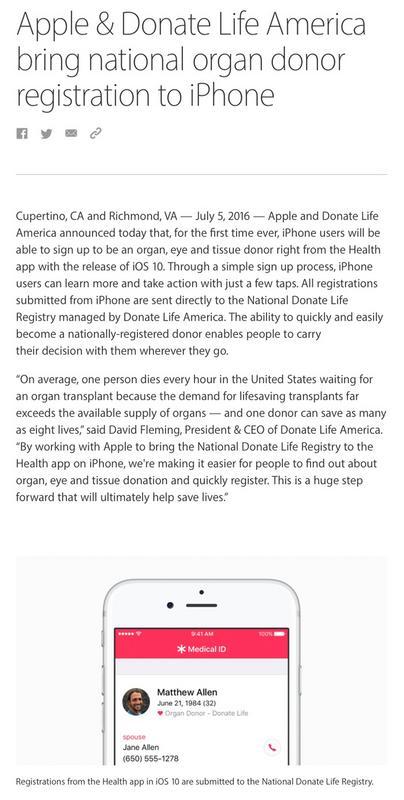 Organspende / Transplantation Donate