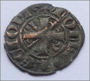 Meaja salamanquesa del Infante Sancho (futuro Sancho IV) (1282-1284) de León 2_Dinero_Fernando_III