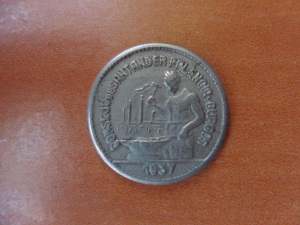 50 CENTIMOS 1937. Consejo de  SANTANDER PALENCIA Y BURGOS. 001