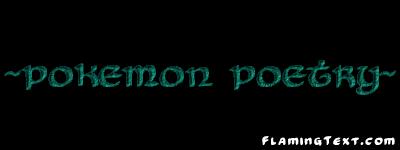 Pokemon Poetry RP