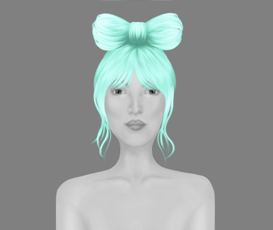 Leandra's Weekly Design Challenge: #4 Mint Colored Mint_Hair