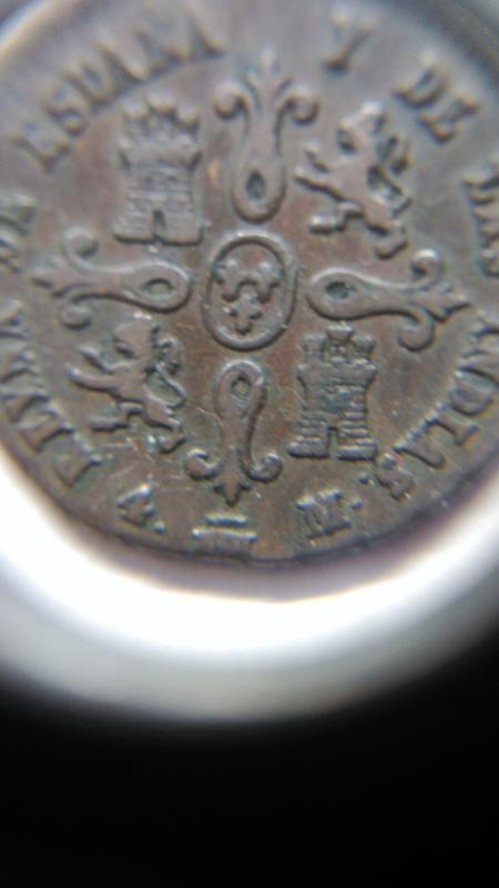 4 maravedís 1836. Isabel II. Sevilla. Valor en reverso Image