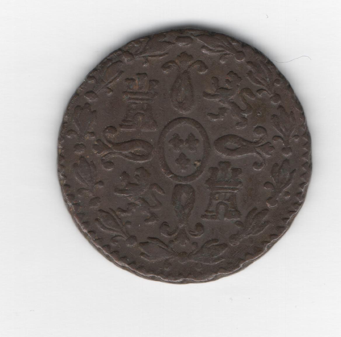 2 Maravedis 1831 Fernando VII Segovia 2_maravedis_1831_Segovia_B_2_44gr_18_7mm