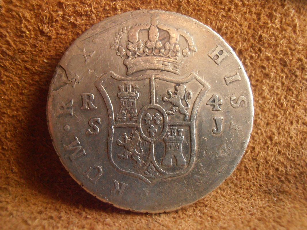 4 Reales 1824 Fernando VII. Sevilla J. PC050010