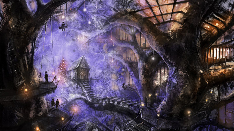 Crime Sorcière Guild Winter_treehouse_by_alexkaiser
